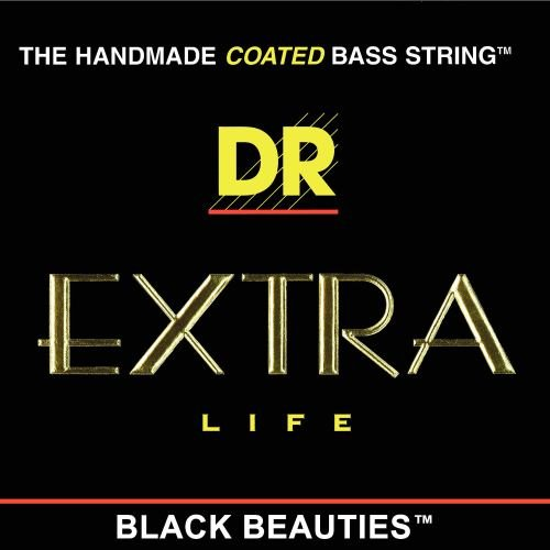 DR Strings Bass Strings, Black Beauties - Extra-Life