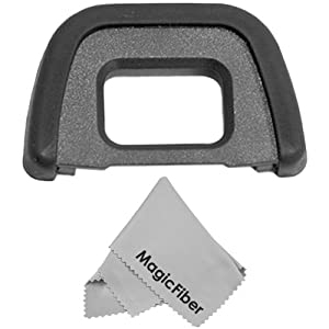 Eyepiece / Eyecup for NIKON (D7000, D300 series, D200, D100, D90, D80, D70, D60) + Premium MagicFiber Microfiber Cleaning Cloth
