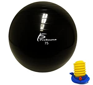 ProSource 2000 lb. Anti-Burst Exercise Stability Ball with Foot Pump