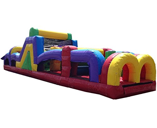 Inflatable 40 Foot Obstacle Course- Includes Free 1.5 HP Blower and Free Shipping