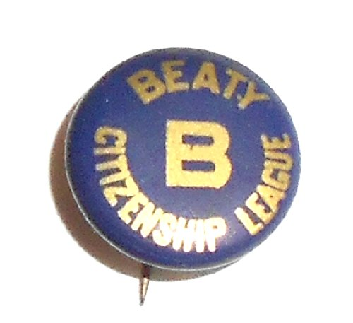1930'S Vintage Beaty High School Citizenship League Pinback Button - Warren, Pa