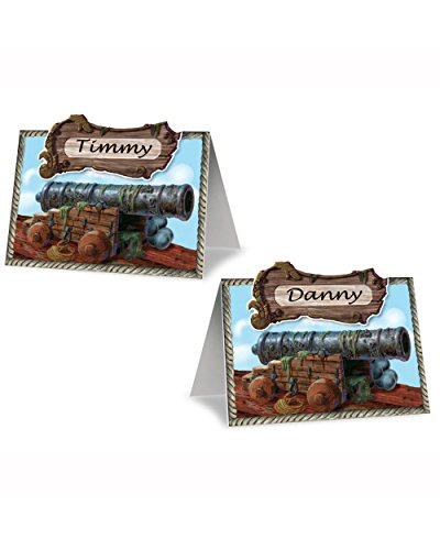 Beistle 50047 - Pirate Cannon Place Cards- Pack of 12