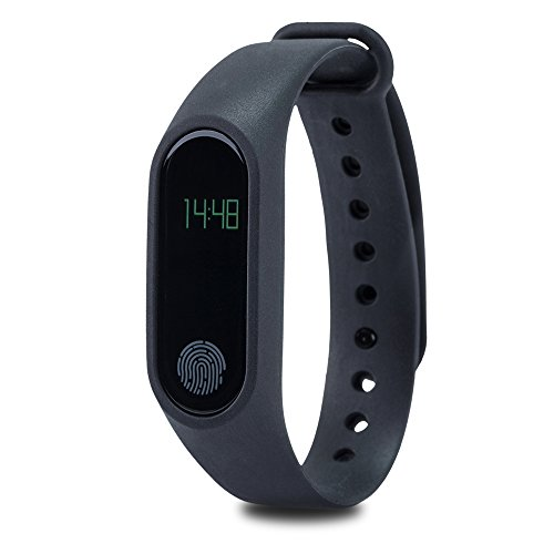 LiKee Fitness Tracker Sleep Monitor Steps Counter Activity Wristband Smart Bracelet (Black)