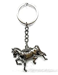 MM Horse Running Multi-purpose Fashion Stylish Locking Key Chain SILVER COLOR