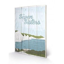 Adam McNaught-Davis - The Seven Sisters Cuadro De Madera (60 x 40cm)