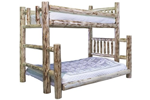 Montana Woodworks Bunk Bed, Twin Over Full, Ready To Finish