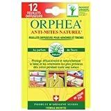 Orphéa - Anti-Mites Naturels Textile - Feuillets Diffuseurs Fleurs x 12