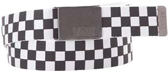 Vans M DEPPSTER WEB BELT BLACK/WHITE - Ceinture - Homme - Noir (Black/White) - One Size (Taille fabricant: One Size)