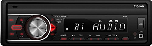 Clarion FZ105BT Clarion FZ105BT Single-DIN Bluetooth In-Dash Mechless Car Stereo (Clarion Car Stereo Remote compare prices)