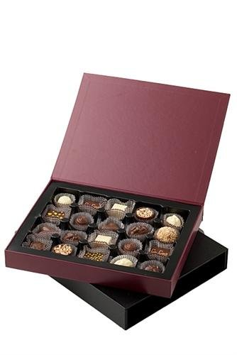 CoCoa Confection Black/Maroon, Chocolate, Executive Marquee Gift Box (Milk Chocolate), 8 Ounce
