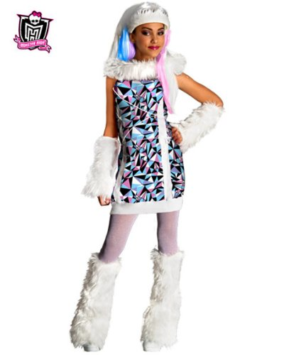 Girl's Monster High Abbey Bominable Costume AND Accessories ( Medium )