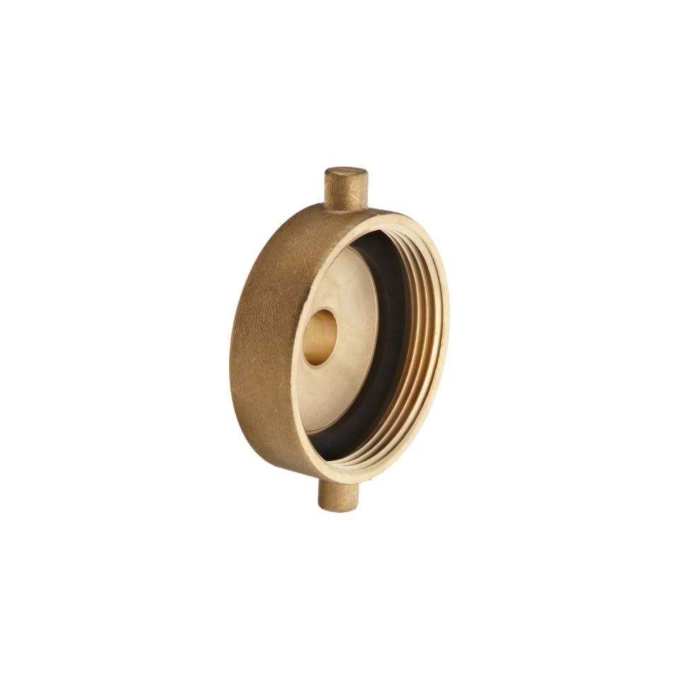 Moon 369 1521011 Brass Fire Hose Adapter, Pin Lug, 1 1/2 NH Female x 1 NPSH Male
