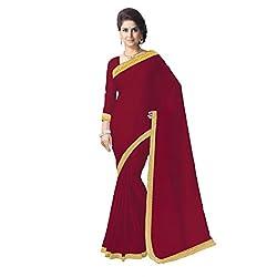 Aagaman Fashion Faux Georgette Saree ( TSSU13177D_Maroon )