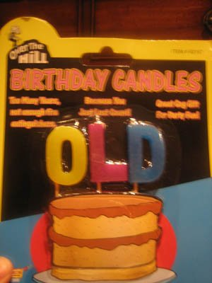 OLD Over The Hill Birthday Candles - 1