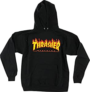 Thrasher Flames Black Small Hooded Sweatshirt