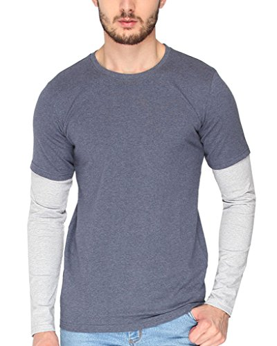 Campus-Sutra-Mens-cotton-Mens-cotton-Blue-Melange-Round-Neck-Full-Sleeve-Tshirt