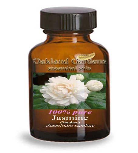 JASMINE SAMBAC Essential Oil - BULK 100% PURE Therapeutic Grade Essential Oils - Essential Oil By Oakland Gardens (004 mL - 1 Dram Bottle)