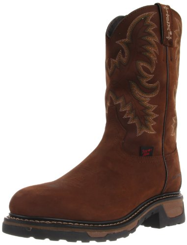 Tony Lama Boots Men's Waterproof Steel Toe TW1019 Work Boot,Tan Cheyenne,9.5 D US