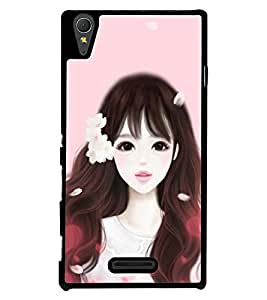 Printvisa Girl Dressed Like Cindrella Back Case Cover for Sony Xperia M2 Dual D2302::Sony Xperia M2