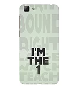ifasho I am the one good quote on confidence Back Case Cover for VIVO Y35