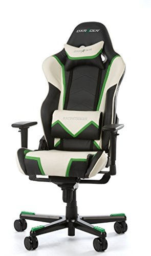 DX Racer Racing Series Pro Gaming Chair - Black, White and Green - OH/RT110/NWE