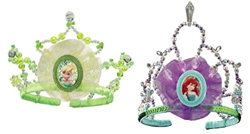 [Mememall Tinker Bell Little Mermaid Ariel Costume Tiara Children Girls Princess] (Tinker Bell Child Tiara)