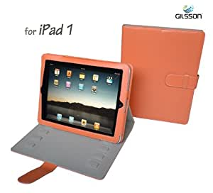 Apple iPad 1 PU Leather Orange Multi-Angle Adjustable Stand / Carrying Case for Apple iPad 3G Wifi 16GB 32GB 64GB made by Gilsson (Orange) SPECIAL INTRODUCTION PROMO PRICE. Guaranteed The Best Case Stand for Your iPad!