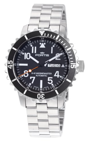 Fortis Men's 670.10.41M B-42 Marinemaster Automatic Black Dial Watch