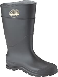 CLC Rain Wear R23011 Over The Sock Black PVC Rain Boot, Size 11