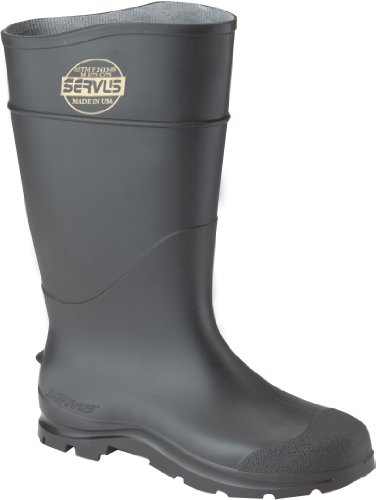 CLC Rain Wear R23010 Over The Sock Black PVC Rain Boot, Size 10