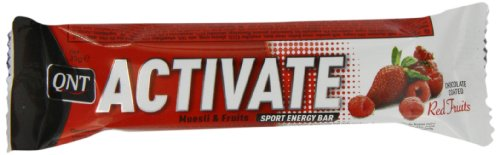 QNT Activate 35 g Red Fruits Energy and Performance Snack Bars - Box of 24