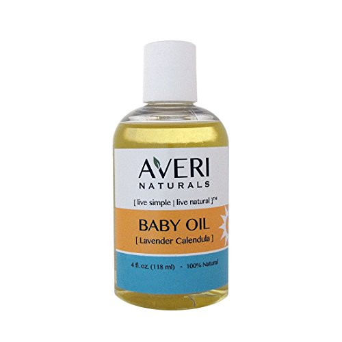 Averi Naturals Lavender Calendula Baby Oil • 100% Natural • with Organic Sunflower and Jojoba Oils • 4 oz • FREE SHIPPING (1) - 1