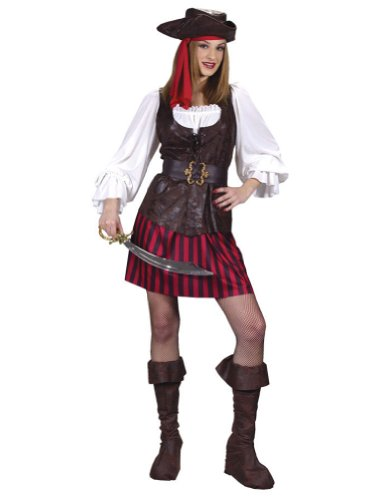 Adult-Costume High Seas Female Buccaneer S M Halloween Costume