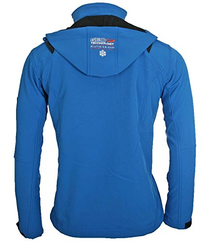 Geographical Norway Herren Softshell Funktions Outdoor Jacke wasserabweisend [GeNo-11-Blau-Gr.M] -