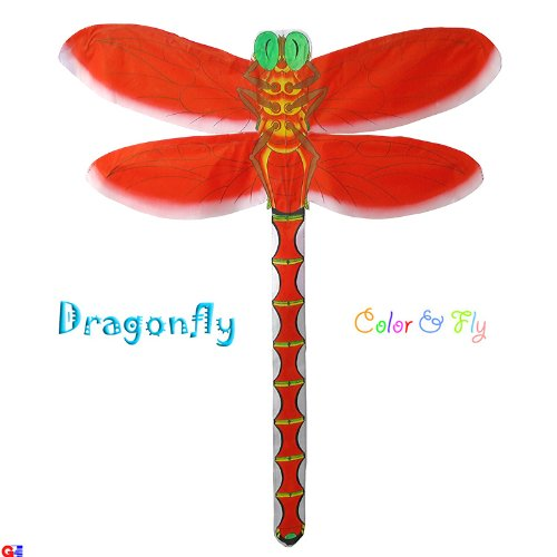 Pack of 2 Hand-Painted Red Dragonfly Kites 33