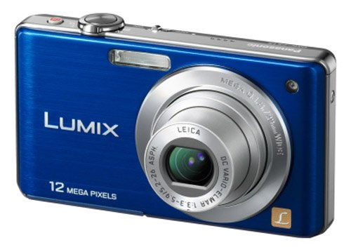 Panasonic Lumix FS15 Digital Camera - Blue (12.1MP, 5x Optical Zoom) 2.7 inch LCD