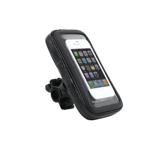 Eco Ride World 自転車 バイク 防水 マウントホルダー マウントキット GPS ナビ スマホ 5.7インチ タブレット 脱落防止ストラップ付き