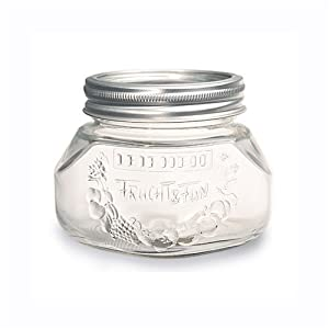Leifheit Canning Supplies 2-Cup Glass Preserving Jars, set of 6