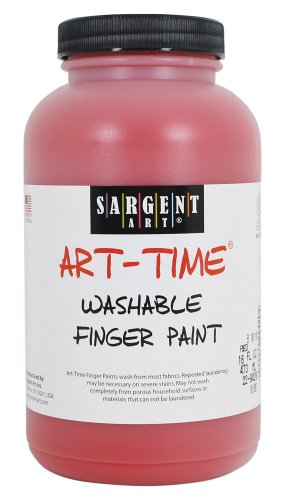 Sargent Art 22-9420 16-Ounce Art Time Washable Finger Paint, Red