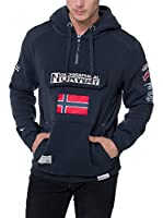 GEOGRAPHICAL NORWAY Sudadera con Capucha Sweat (Azul)
