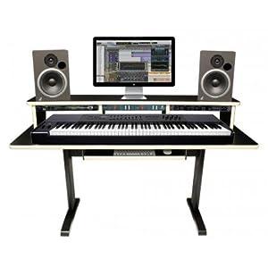 az studio workstations 88 key workstation desk musical instruments. Black Bedroom Furniture Sets. Home Design Ideas