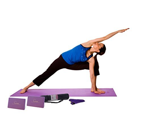 Sivan Health & Fitness 5-Piece Essentials Yoga Beginners Kit, Purple