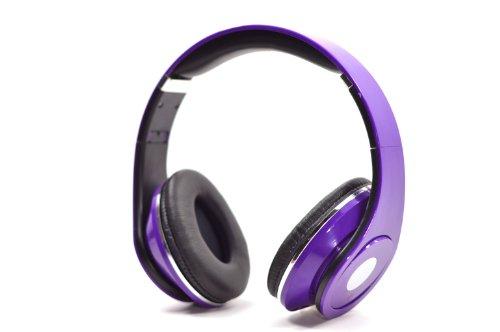 Purple Adjustable 3.5Mm Jack Input Over The Ear Floterea Headphone Ipod Mp3
