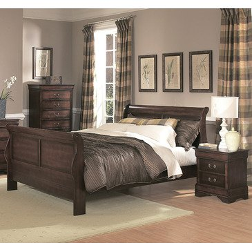 Homelegance Chateau Brown 2 Piece Panel Bedroom Set in Warm Cherry