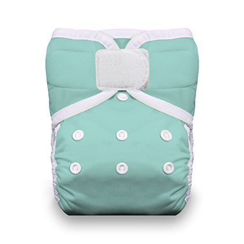 Thirsties One Size Hook and Loop Pocket Diaper, Aqua - 1