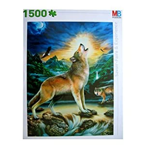MB - 1500 Piece Jigsaw Puzzle - Moonlight Wolf