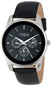 Caravelle by Bulova Men's 43C109 Multifunction leather strap Watch