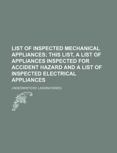 List Of Appliances