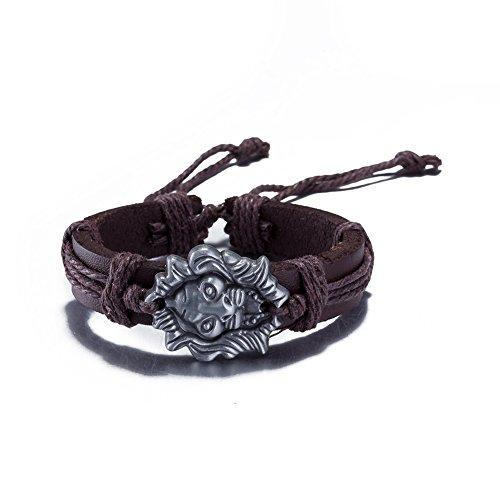 Moda Unico tessuto braccialetto bracciale in pelle regolabile ragazza popolare gioielli da uomo casual