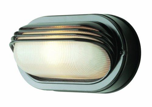 Trans Globe Lighting 4123 BK 8-1/2-Inch 1-Light Outdoor Bulkhead, Black